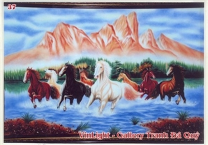 Horses appear in paintings